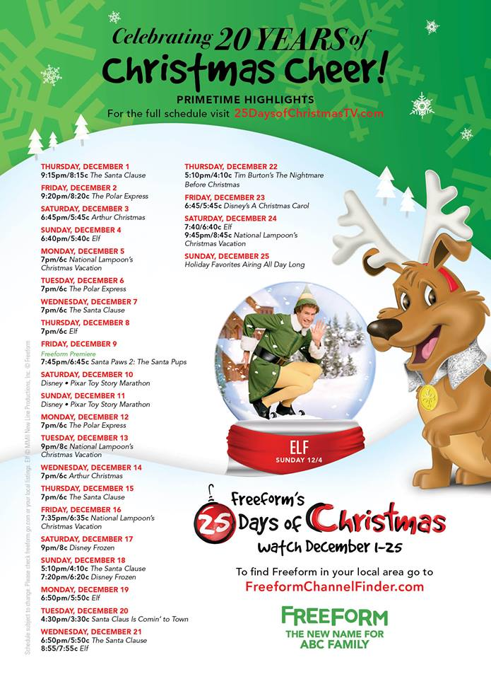 25 Days Of Christmas.What To Watch 25 Days Of Christmas Starts Now On Freeform