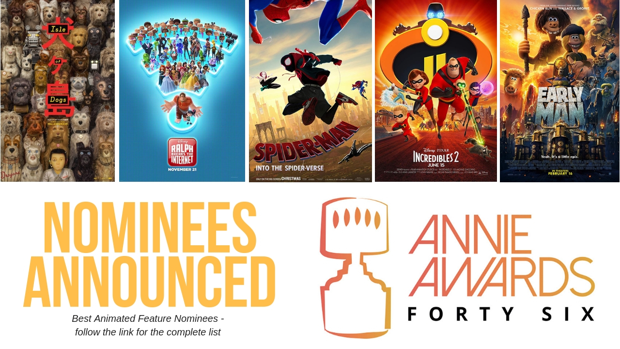 46th Annie Awards nominations revealed with Early Man