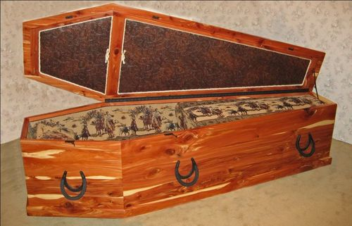 Old West Coffin