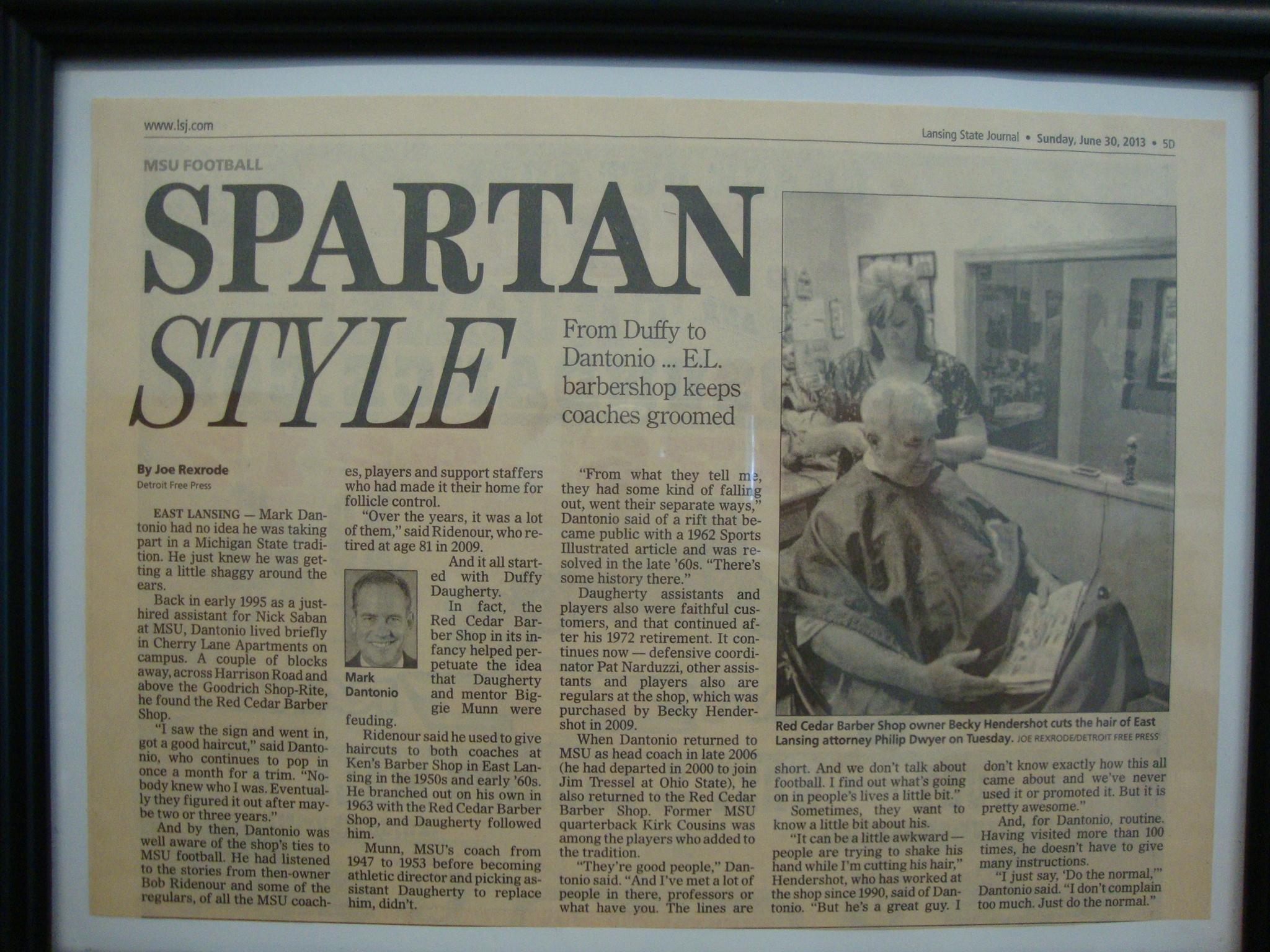 Red Cedar Barber Shop – Barbering since 1963