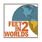 Feet in 2 Worlds logo