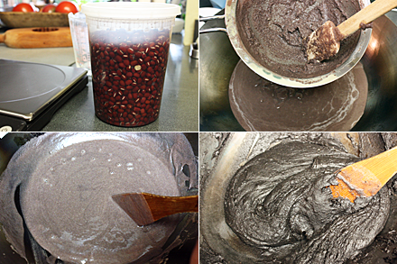 Making sesame paste for mooncake