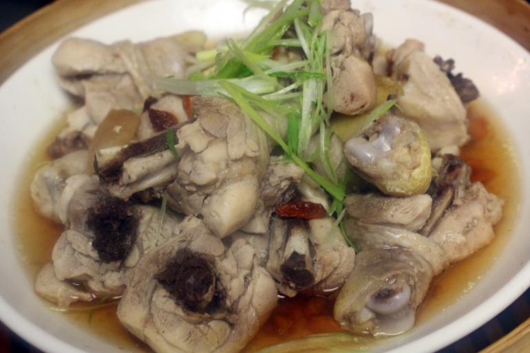 Steamed Chicken with Goji Berries