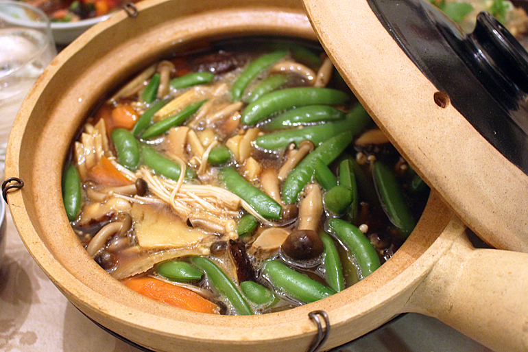 Red Cooked Wild Mushrooms with Vegetables