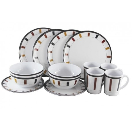 Melamine 16 piece Dinner Set - Elegance