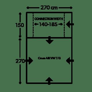 Kampa Dometic Cross Air VW TG Floorplan