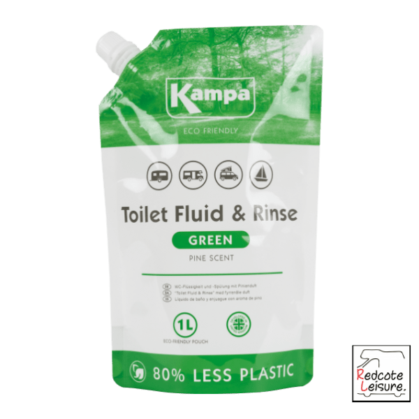 Kampa 1L Green Toilet Fluid Pouch