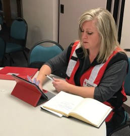 Kelli working to support shelter clients following the Lynnwood apartment fire.