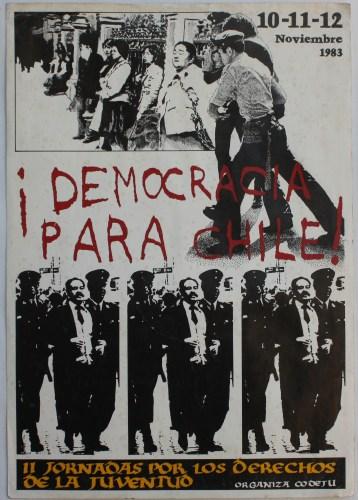 Democracia para Chile, APJ, 1983, pieza original.