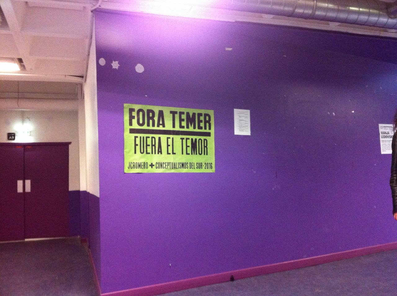 Fora Temer..., Universidad Paris8, Paris, 2017
