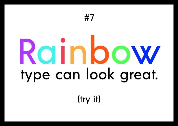 шрифт радуга