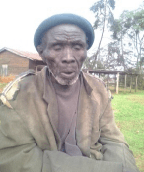 A community elder at Iten Court on 6 September 2014. Harassment and arrests of community members continue, with an arrest as recently as the 3 March 2015. This is despite the injunction in place that should protect the Sengwer from this harassment.