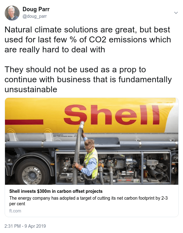 Shell and Natural Climate Solutions