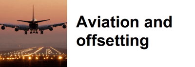 Aviation and offsetting