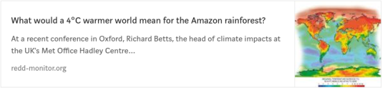 What would a 4°C warmer world mean for the Amazon rainforest?