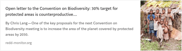 concerns about the 30x30 protected areas target