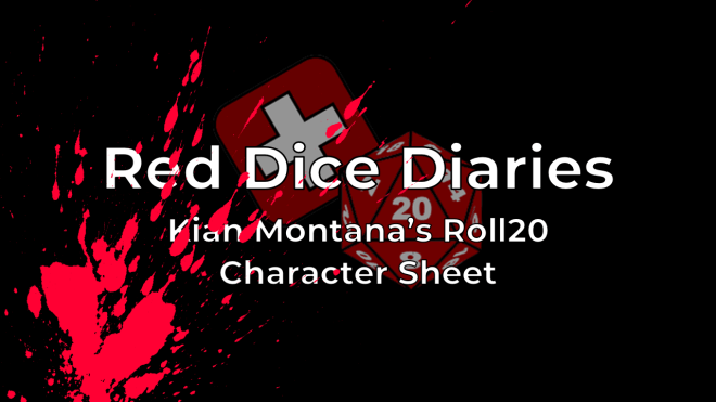 First Looks: Kian Montana's V5 Roll20 character sheet
