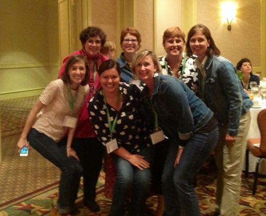 Group shot of new friends, from left Whitney Curtis, Sandra Fenstermacher, Carmen Stanek Johnston and Mary Louise Hagler.