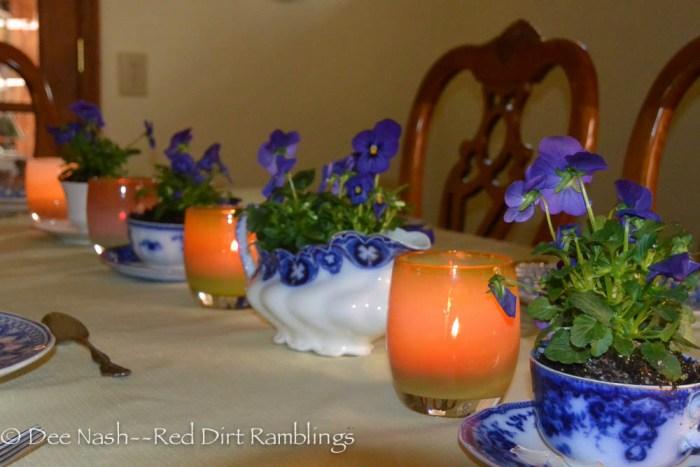 A garden worthy table setting. So pretty.