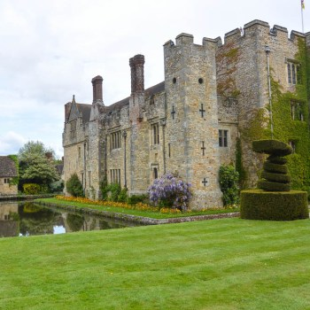 Hever Castle as you come in from the parking area.