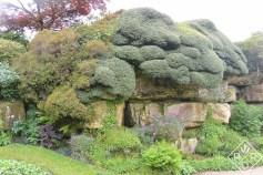 Outside the Tudor garden at Hever Castle.