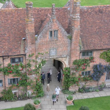 Sissinghurst as seen from the top of the tower.