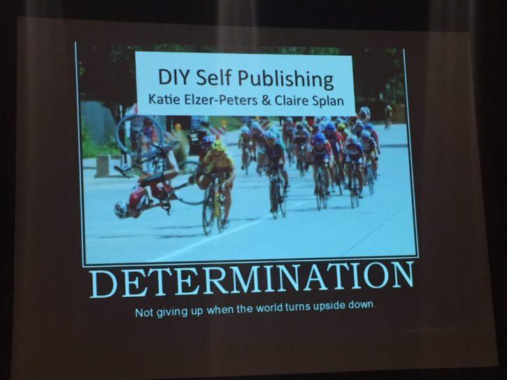 Title slide from talk on self-publishing.