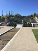 The central water runnel that flows through four terraces containing over 8,000 plants.