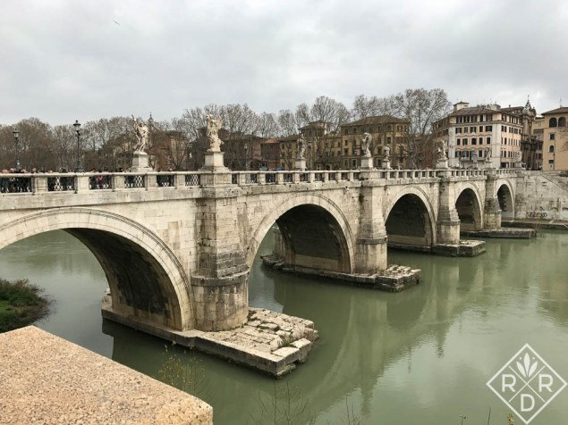 Angel Bridge in Rome.