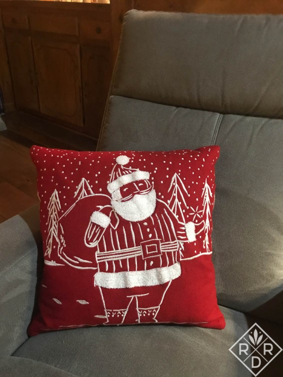 Fun Santa pillow I found at Target.
