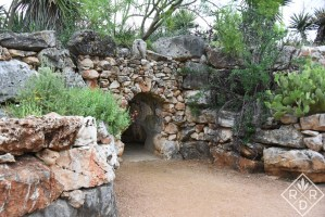 Cave in the family garden.