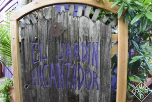 The gate to the cantina garden.