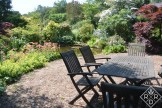 Another view of the table and pond at Low Hall.