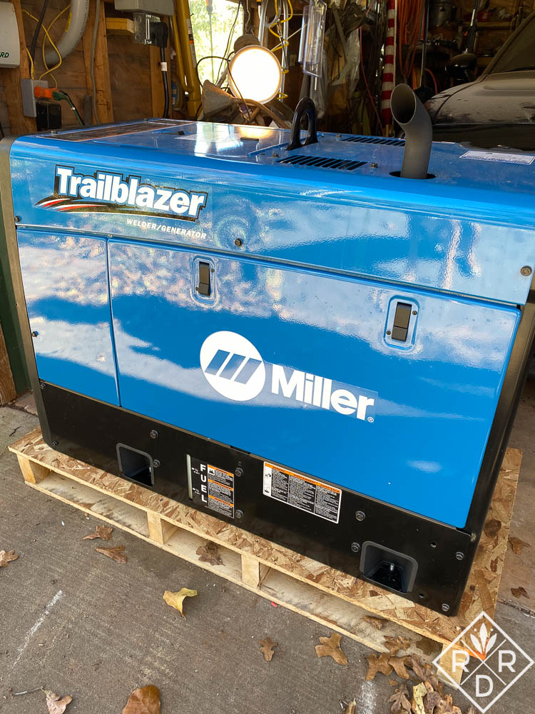 We are grateful for this Miller Trailblazer welder generator. It's helped with our lights, water pump, and water heater.