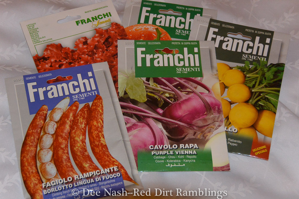 Franchi Seeds come in large packages, and you get a lot of seeds for your money.