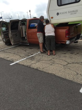 Walmart somewhere. She needed help with her truck.