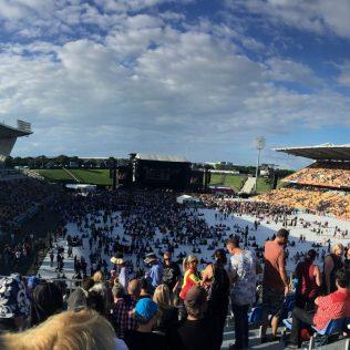 Crowds before Bruce Springsteen Concert, Mt Smart Stadium, Auckland