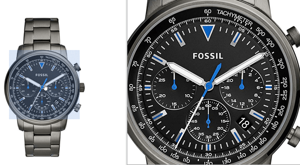 Fossil Men's Goodwin Chronograph Smoke Stainless Steel Watch FS5518