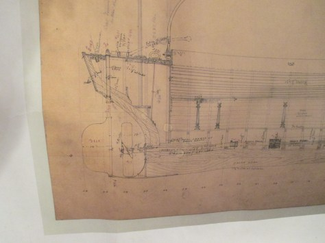 This is a picture of the drafting of the stern. showing all the info I have to work from on the original