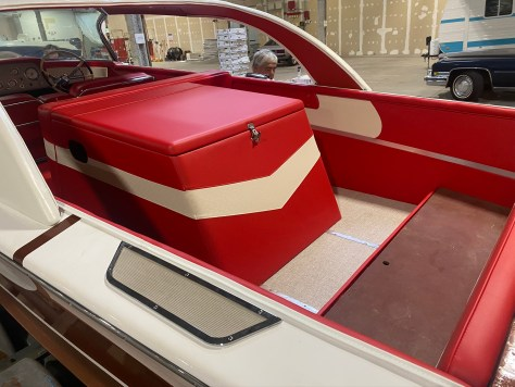 Engine box with vinyl installed.