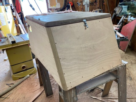 We had the original engine box, so this one was fabricated to match.