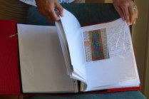 Di showed us a folder she is compiling of all her work.