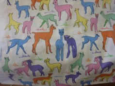 Sue has been experimenting in the fabric design world - her alpaca print from Spoonflower
