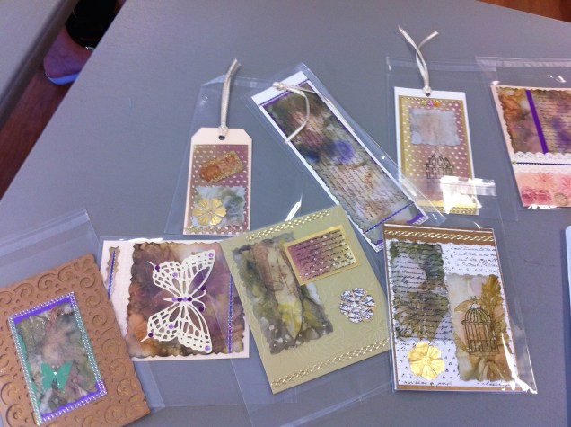 Eco dyed cards