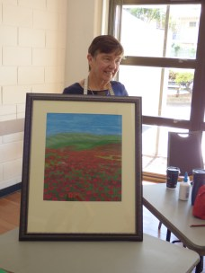 Jan has completed and framed this poppy field