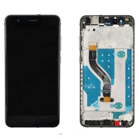 Huawei P10 Lite Sort Skærm Med Ramme Oem Kvalitet