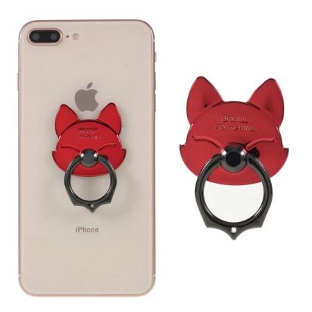 Electroplating Fox Magnetisk Ring Holder Til Smartphones