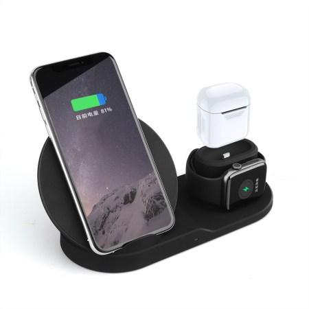 3 In 1 Qi Trådløs Oplader Telefon Oplader