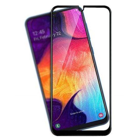 Samsung A50 Full Skærmbeskyttelse – Sort Ramme
