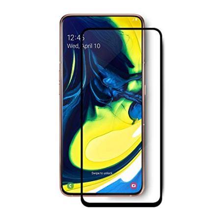Samsung A80 Full Skærmbeskyttelse – Sort Ramme
